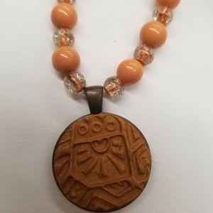 Jewelry - Beaded polymer clay charm bracelet